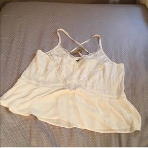 Ivory colored lace tank